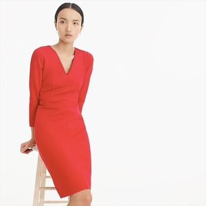 J. Crew Long-sleeved Sheath Dress Stretch Ponte 00